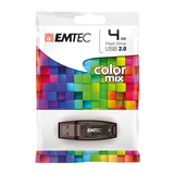Emtec Color Mix C410 4GB USB2.0-Stick braun