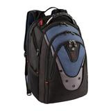 """Wenger Ibex Backpack für 43,2cm (17"""") Notebooks Polyester schwarz/blau"""