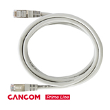 CANCOM Prime Line Patchkabel RJ-45 S/FTP Cat6 Grau 2m