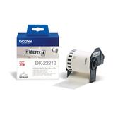 Brother Endlosetiketten DK-22212, Film, weiß, 62mm x 15,24m  für QL-500/ -550 / -650TD Etikettendrucker