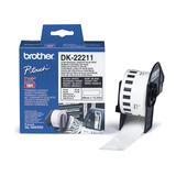 Brother DK Endlos-Etikett Film weiß 29mm x 15,24m für QL-500/QL-550/-650TD