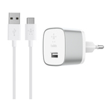 Belkin BOOST UP  Quick Charge 3.0 Ladegerät, inkl. USB-C auf USB-A Kabel Silber 1,2 m