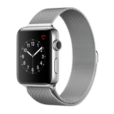 Apple Watch Series 2 42mm Edelstahlgehäuse mit Milanaise Armband