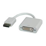 Roline DisplayPort zu DVI Adapter Stecker/Buchse Weiß