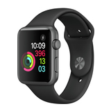 Apple Watch Series 1 42mm Aluminiumgehäuse Space Grau mit Sportarmband Schwarz