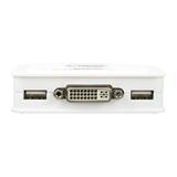 InLine KVM Switch 2-fach DVI-D USB mit Audio integr. Kabel