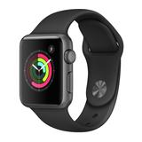 Apple Watch Series 1 38mm Aluminiumgehäuse Space Grau mit Sportarmband Schwarz