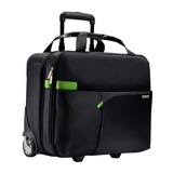 "Leitz Complete Smart Traveller Leder-Trolley für 39,6cm (15,6"") Notebooks schwarz"
