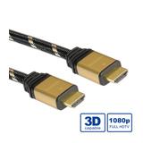 Roline Gold HDMI A/HDMI A Kabel Stecker/Stecker Schwarz 5m