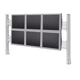 Roline LCD-Brücke für 2x3 56 cm-Monitore Tischklemmmontage