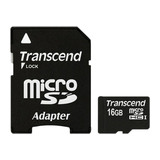 Transcend Micro SDHC Card 16GB mit SD-Adapter
