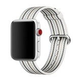 Apple gewebtes Nylonband für Apple Watch 38mm grau gestreift