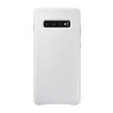 Samsung Leather Cover EF-VG975 für Galaxy S10+ Weiß