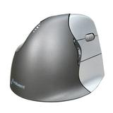 Evoluent Vertical Mouse 4 für Rechtshänder, schwarz/silber, USB, optisch
