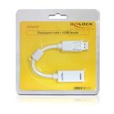 Delock Adapter DisplayPort/HDMI weiß 12,5cm