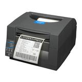 Citizen CL-S521, Etikettendrucker, schwarz, Thermodirekt, Auflösung: 8 Punkte/mm (203dpi), Medienbreite (max): 104mm, Geschwindigkeit (max.): 150mm/Sek., RS232, USB), Emulation: ZPL, Datamax,