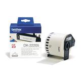 Brother DK Endlos-Etikett Papier weiß 62mm x 38,48m für QL-500/QL-550