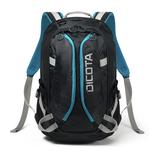 """Dicota Backpack Active XL für 43,9cm (17,3"""") Notebooks Polyester schwarz/blau"""