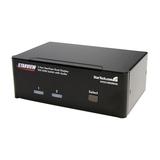 StarTech DVI KVM USB Switch DVI Umschalter mit USB Hub 2 Port