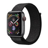 Apple Watch Series 4 44mm GPS+Cellular Aluminiumgehäuse Space Grau mit Sport Loop Schwarz