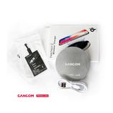 CANCOM Prime Line QI Wireless Charger 10W weiß mit CANCOM-Logo graviert, inkl. Adapter für Lightning und Micro-USB