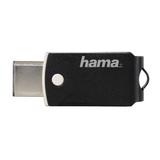 Hama FlashPen C-Turn 64GB Type-C USB 3.1/USB 3.0 100 MB/s, Schwarz/Silber
