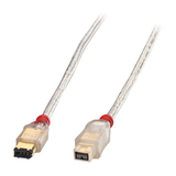 Lindy Premium FireWire Anschlusskabel 9pin Stecker/6pin Stecker 4,5m