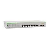 Allied Telesis AT GS950/10PS Gigabit Ethernet Switch 8ports + 2xKombi Gigabit SFP PoE+