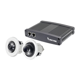 Vivotek VC8201-M13 Split IP Kamerasystem 1xCU8131 1xCU8171 Indoor 1MP WDR 5MP Fisheye 8m Kabel PoE