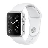 Apple Watch Series 1 38mm Aluminiumgehäuse Silber mit Sportarmband Weiß