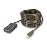 Lindy USB2.0 Verlängerungskabel 10m integr. 4port Hub