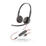 Plantronics Blackwire 3225, Headset binaural mit USB-A/3,5 mm Klinkenstecker