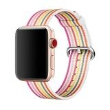Apple gewebtes Nylonband für Apple Watch 38mm pink gestreift
