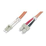 Digitus LWL Duplexkabel 50/125µm LC/SC orange 5m