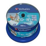 Verbatim CD-R 52x Data Life Plus 80Min. 700MB 50er Spindel Super AZO Generic Printable Wide Print Surface No ID
