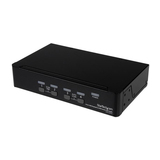 StarTech DisplayPort USB KVM Switch/Umschalter mit Audio 4 Port