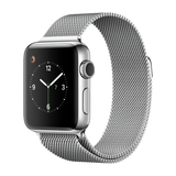 Apple Watch Series 2 38mm Edelstahlgehäuse mit Milanaise Armband