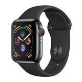 Apple Watch Series 4 40mm GPS+Cellular Edelstahlgehäuse mit Sportarmband Schwarz