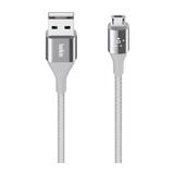 Belkin Duratek Micro-USB/USB Kabel mit DuPont Kevlar Silber 1,2 m