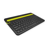Logitech K480 Multi-Device Tastatur Bluetooth Deutsch Schwarz/Gelb