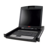 APC Rack 43,18cm (17'') TFT 1280x1024Pixel KVM-Konsole 1HE 0,26mm Tastatur/Maus/Video Kabel USB Kabel Datenkabel