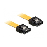 Delock Kabel SATA 6Gb/s Stecker/Stecker Metall Gelb 0,2m