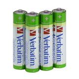 Verbatim Batterien AAA Wiederaufladbar 4er Pack