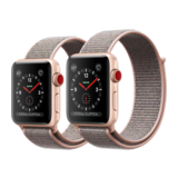 Apple Watch Series 3 42mm GPS+Cellular Aluminiumgehäuse Gold mit Sport Loop Sandrosa