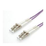 Roline LWL-Duplexkabel 50/125µm OM4 LC/LC violett 1m