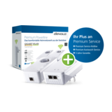 Devolo GIGABIT WLAN Starterset Bridge Gigabit Ethernet, HomePlug AV (HPAV) 802.11a/b/g/n/ac Dualband an Wandsteckdose anschließbar