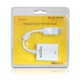 Delock Adapter DisplayPort Stecker/VGA Buchse weiß