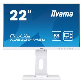 """Iiyama XUB2294HSU-W1 Display 55 cm (21,5"""") VA-panel, 1920x1080 Pixel 3000:1 250cd/m² 4ms Weiß"""