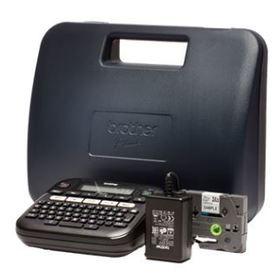 Brother P-touch D210VP Desktop Beschriftungsgerät mit Koffer, Thermotransfer, 20mm/Sek., 180dpi