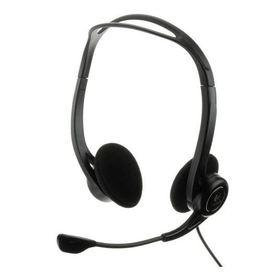 Logitech PC 960 Stereo Headset USB Mikrofon mit Rauschunterdrückung Lautstärkeregler und Stummschalter am Kabel